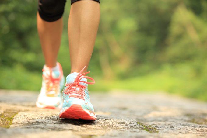 Woman Doing Mindful Walking