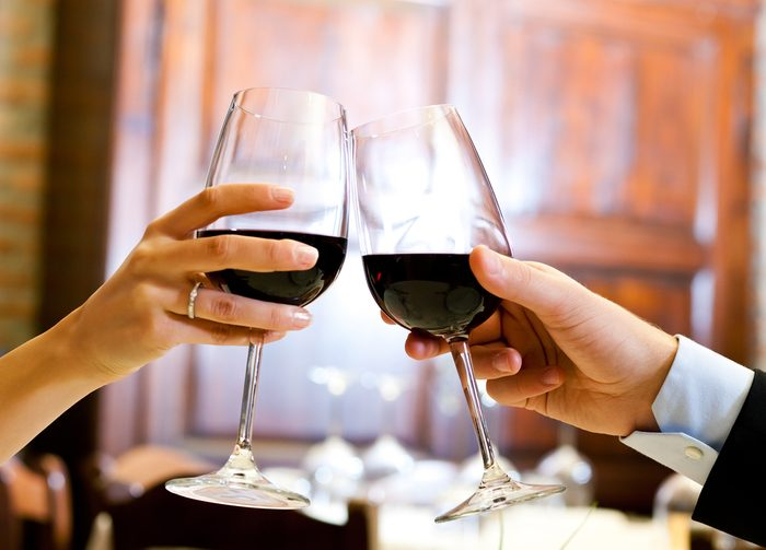 diet wine and dinner