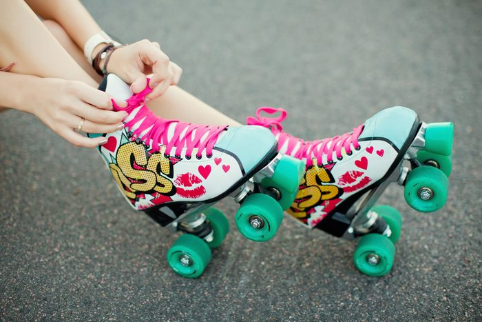 fun ways to stay in shape_woman inline skating