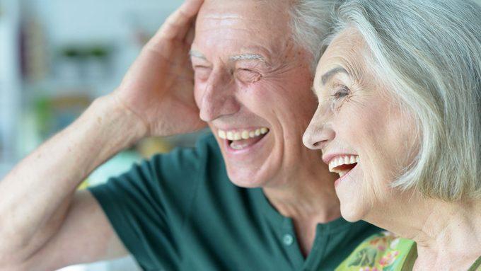 elderly man and woman