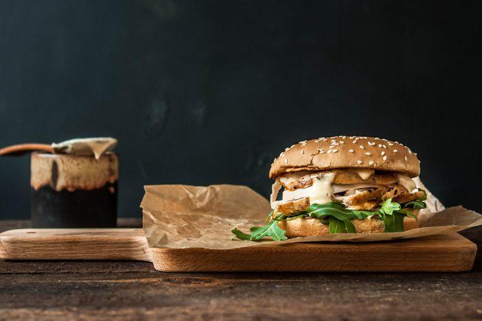 herbed chicken burger