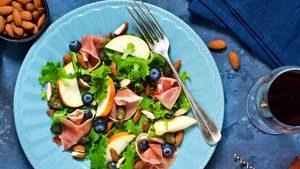 Ontario Nectarine Salad with Minted Chili Dressing