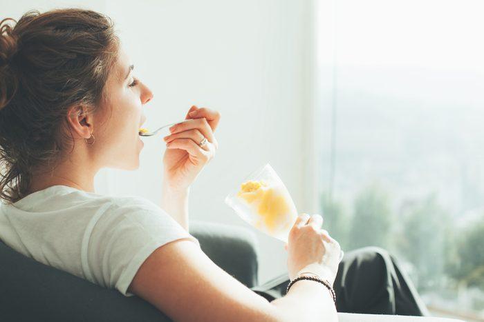 woman eating icecream_always tired