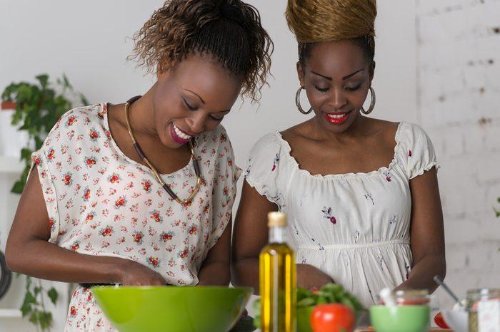 women cooking dinner _ weeknight food prep tips