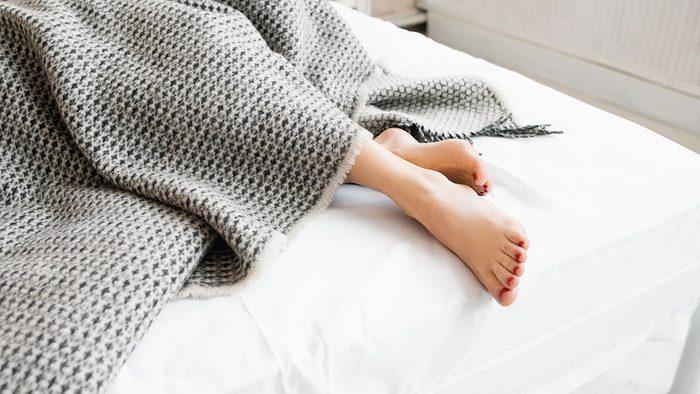 Breakfast Personality, woman in bed