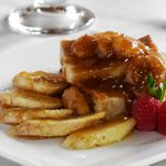Banana and Peanut Butter Bread Pudding