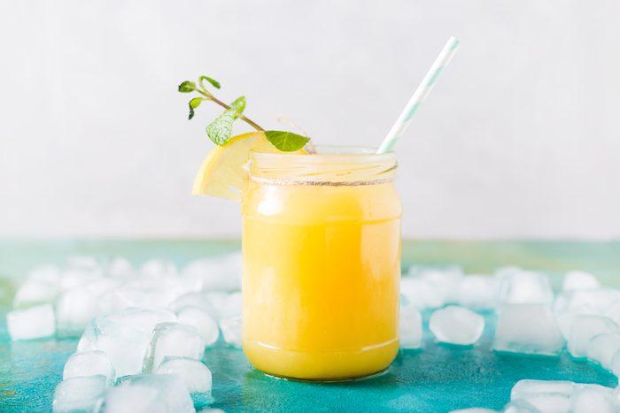 almond-orange smoothie, almond orange smoothie on table   citrus recipes