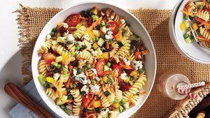Pasta, Veggie & Blue Cheese Salad