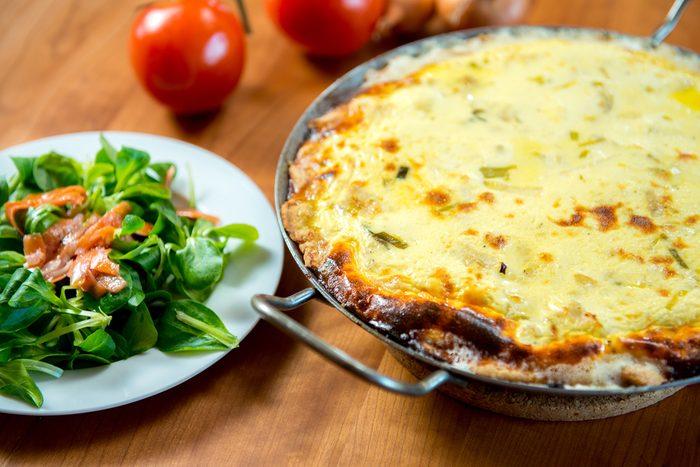 Zucchini Carrot Crustless Quiche   egg recipes