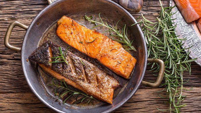 flat tummy foods salmon