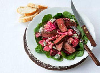 Beef beet salad