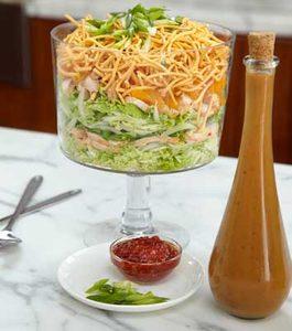 Make Ahead Layered Chinese Chicken Salad