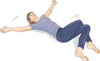 Supine cross-leg spinal twist