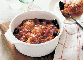 Mediterranean chicken with olives