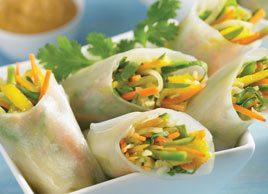 Vegetarian Vietnamese Fresh Rolls