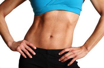 flat abs slim woman