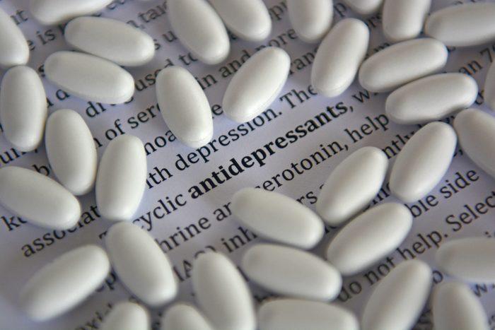 Antidepressants don't interact well with melatonin.
