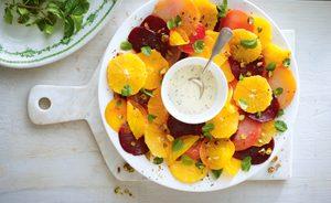 A Colourful Beet Salad with Yogurt Poppy Seed Dressing