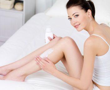 woman lotion