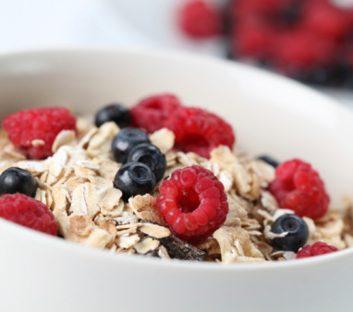 breakfast granola fruit