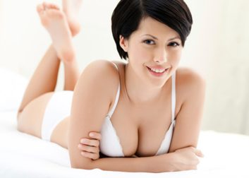breast reduction woman bra body image bed
