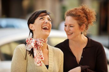 women laughing together