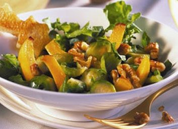 Brussels Sprouts with Walnuts and Arugula large