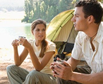 camping nature couple