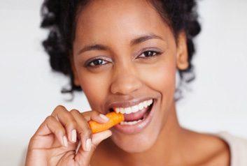 eating carrot veggie