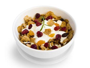 cereal with yogurt