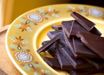 dark on chocolate