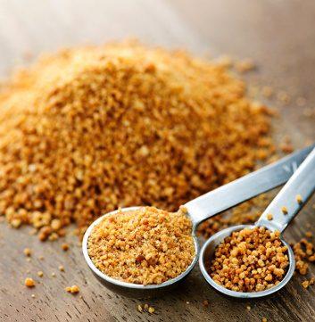 Replace regular sugar with coconut sugar