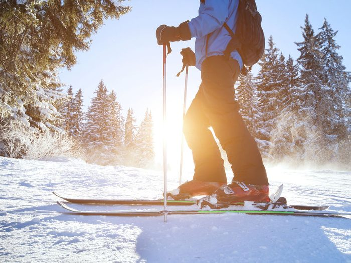 skiing improves muscular fitness