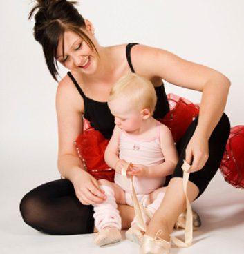 mom baby ballet dance