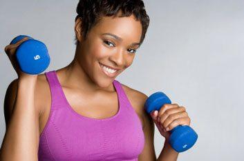 women weights fitness dumbbells