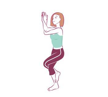 Anti-aging yoga Eagle Pose