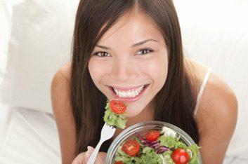 happy eating salad