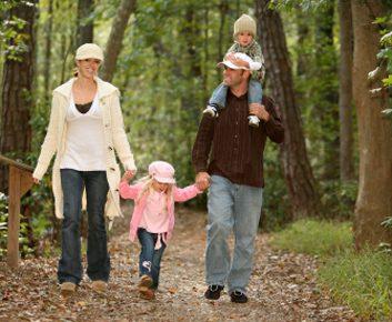 family nature walk