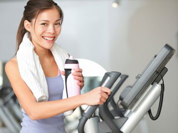 fit happy woman exercise