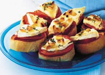 goat-cheese toasts