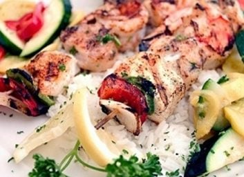 grilled scallop kebabs