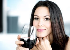 red wine alcohol woman drinking hangover