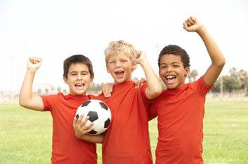 kids soccer play