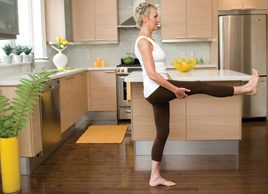 Yoga pose of the month: Improve balance with leg lifts