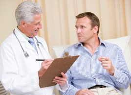 man and doctor health prostate men
