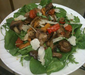 meatless mushroom salad