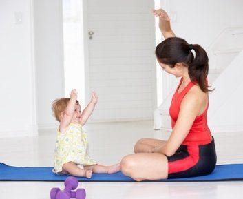 mom baby yoga