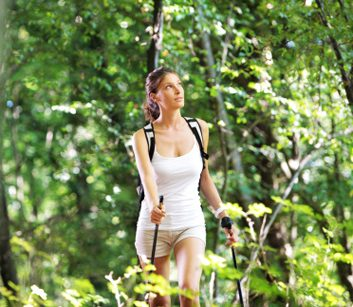 nordic walking forest
