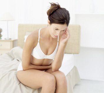 woman pelvic pain