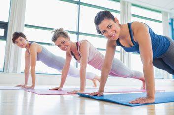 plank exercise yoga